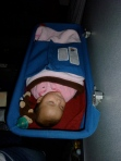 Zia in the bassinet