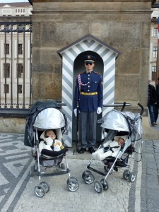 The twins at Prague Castle